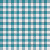 checkered blue and white table cloth with repeat design