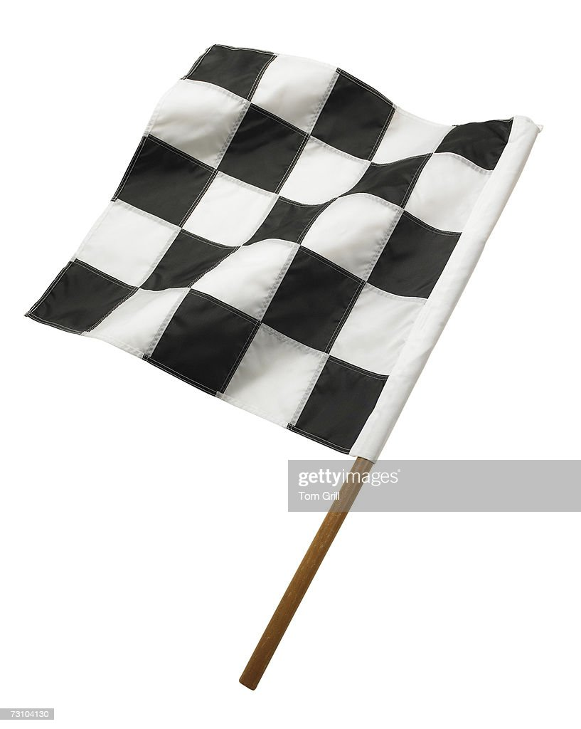 Checkered flag, close-up : Stock Photo