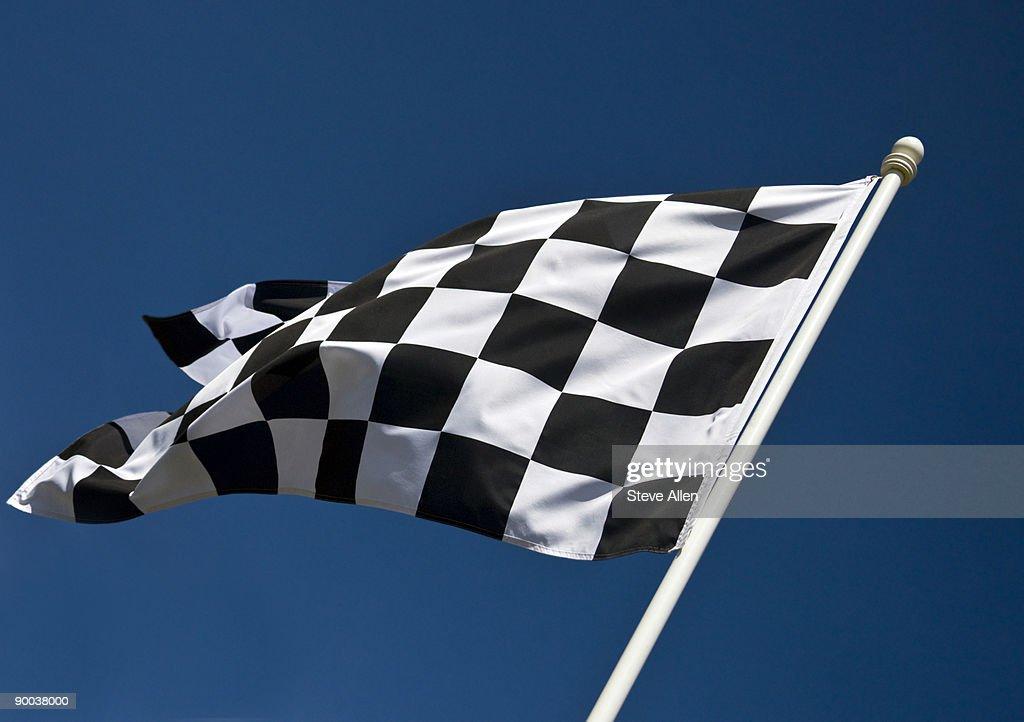 Checkered Flag : Stock Photo