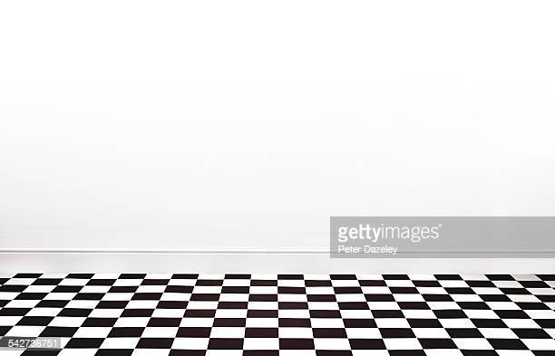 Checkered floor with copy space landscape