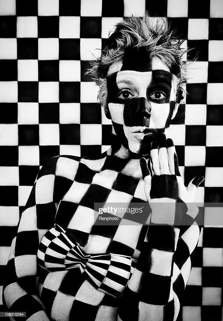 Checkered Woman