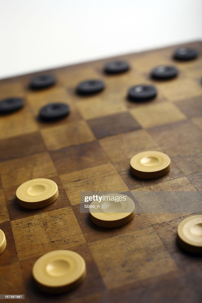 Checkers game : Stock Photo