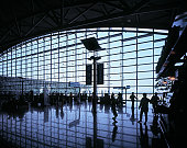 Check-in hall at Incheon Airport in Seoul