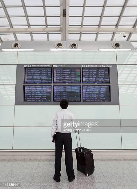 checking flight schedule