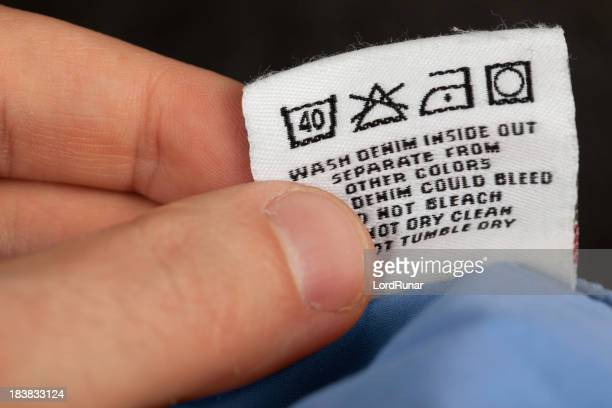 Checking laundry label