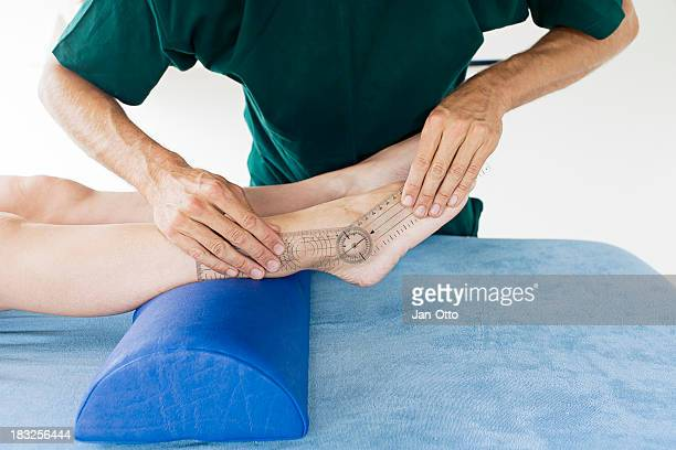 Checking mobility of a foot