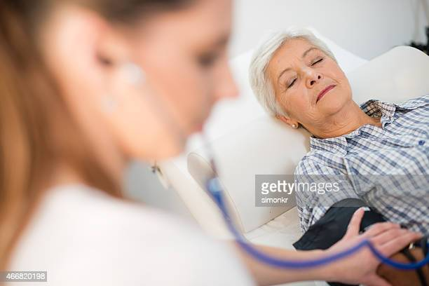 Checking Patient's Blood Pressure