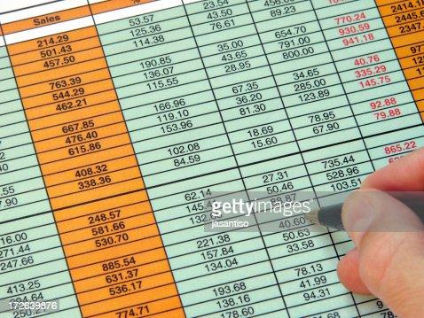 Checking spreadsheet