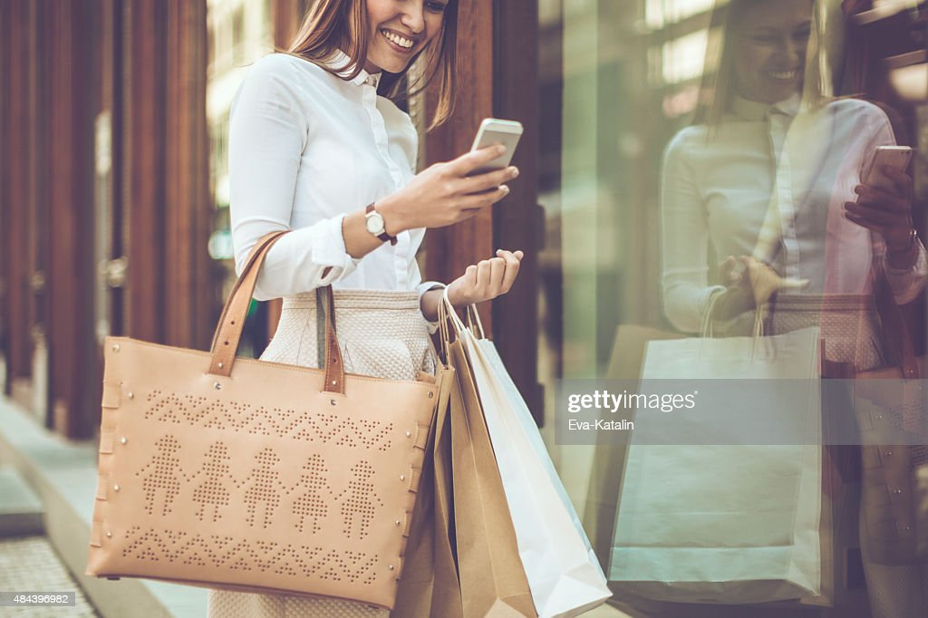 Checking the messages : Stock Photo