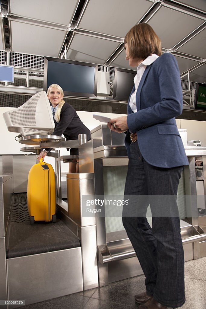 Checking the weight of a suitcase