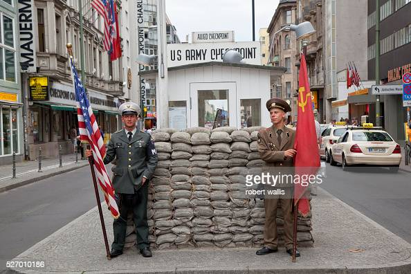 checkpoint charlie was the most famous crossing point between east and west berlin during the. Black Bedroom Furniture Sets. Home Design Ideas