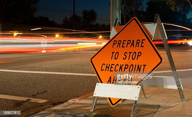 Checkpoint prepare to stop sign