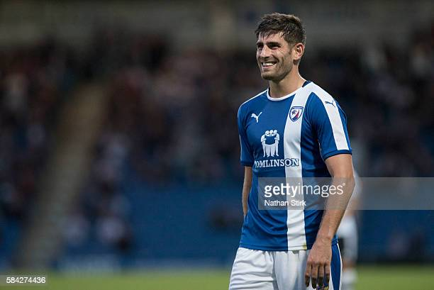 Ched Evans of Chesterfield during the PreSeason Friendly between Chesterfield and Derby County at Proact Stadium on July 26 2016 in Chesterfield...