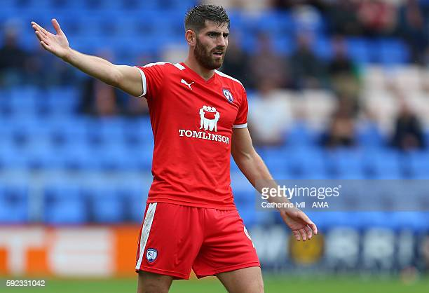 Ched Evans of Chesterfield during the Sky Bet League One match between Shrewsbury Town and Chesterfield at New Meadow on August 20 2016 in Shrewsbury...