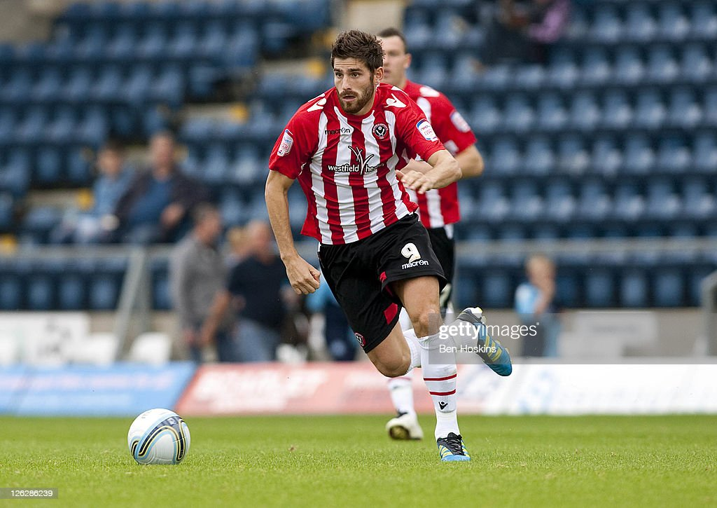 Ched Evans of Sheffield United in action during the npower League One match between Wycombe Wanderers and Sheffield United at Adams Park on September...