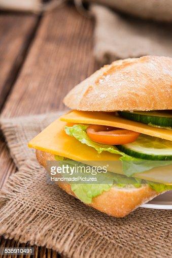Sanduíche de Queijo Cheddar : Foto de stock
