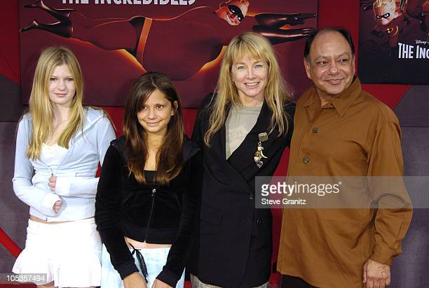 Cheech Marin and family during 'The Incredibles' Los Angeles Premiere Arrivals at El Capitan in Hollywood California United States