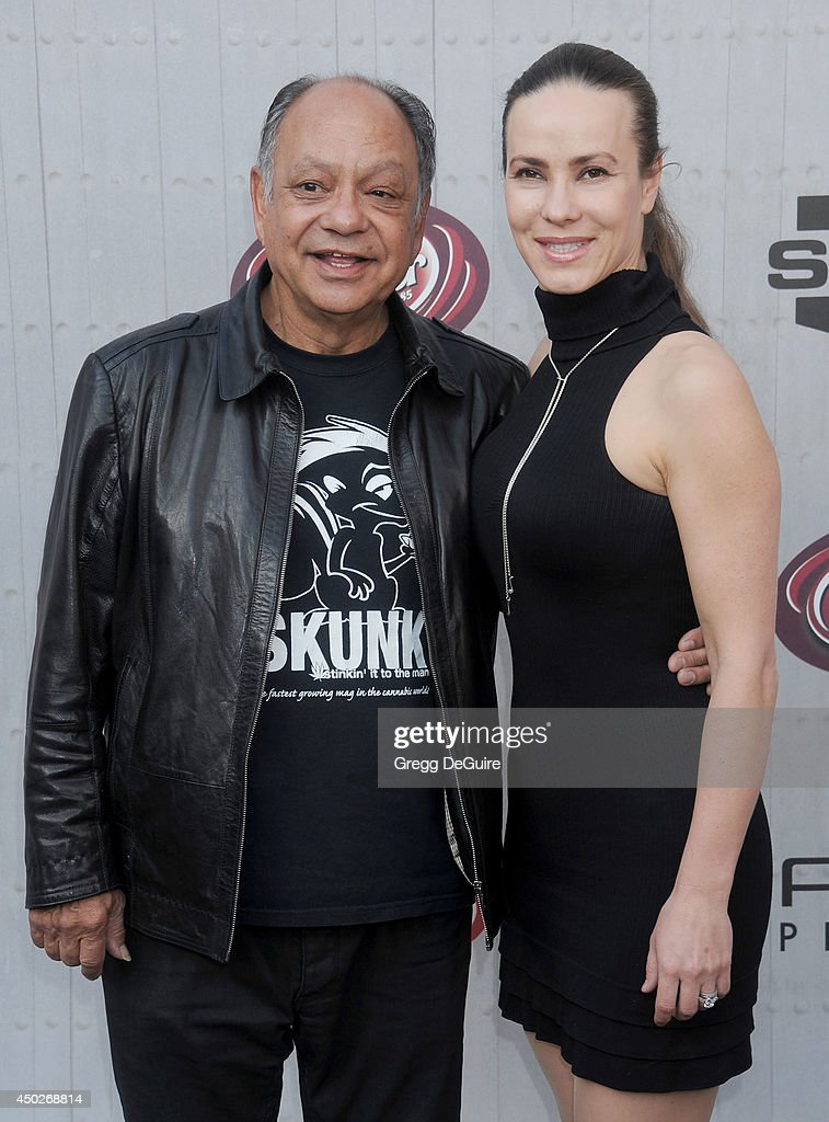 Cheech Marin and Natasha Rubin arrive at Spike TV's 'Guys Choice' Awards at Sony Studios on June 7, 2014 in Los Angeles, California.