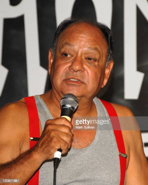 Cheech Marin announces the upcoming 'Cheech Chong Light Up America' Comedy Tour at the Troubadour on July 30 2008 in West Hollywood California