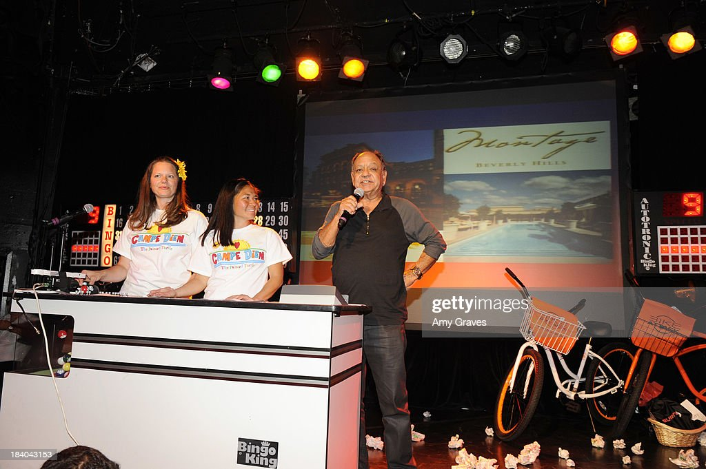 Cheech Marin calls bingo at Bingo At The Roxy to Benefit The Painted Turtle at The Roxy Theatre on October 10, 2013 in West Hollywood, California.