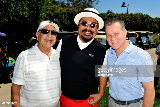 Cheech Marin George Lopez and Eddie Van Halen attend the 10th Annual George Lopez Celebrity Golf Classic at Lakeside Country Club on May 1 2017 in...