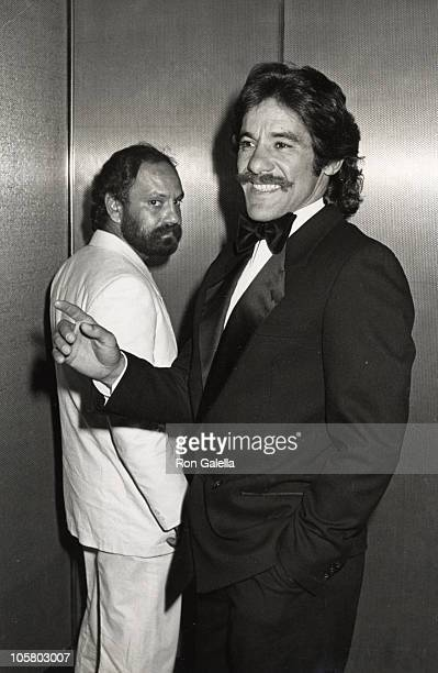 Cheech Marin Geraldo Rivera during Dinner Dance Honoring 'New York New York' Hosted by Halston at Olympic Towers in New York City New York United...
