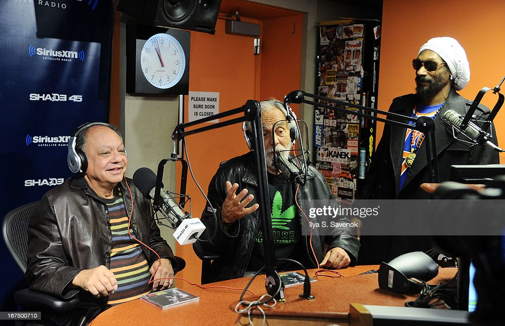 Cheech Marin, Tommy Chong and Snoop Lion visit 'Sway in the Morning' on Eminem's Shade 45 channel before Cheech & Chong sit down for a fan Q&A session as part of SiriusXM's 'Town Hall' series in the SiriusXM Studios on April 25, 2013 in New York City.