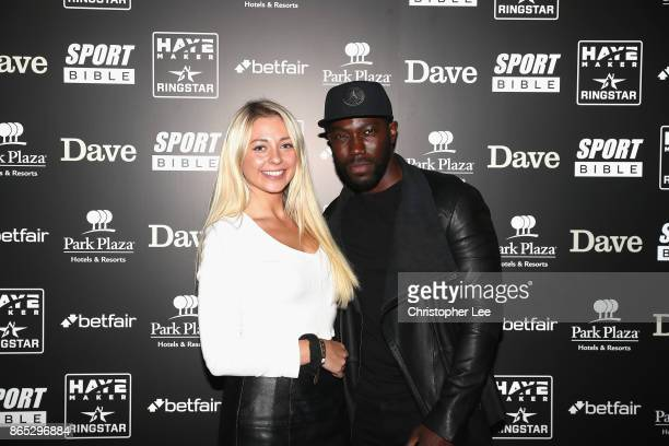 Cheeky Sport Dave with a friend during the Hayemaker Ringstar Fight Night at O2 Indigo on October 20 2017 in London England