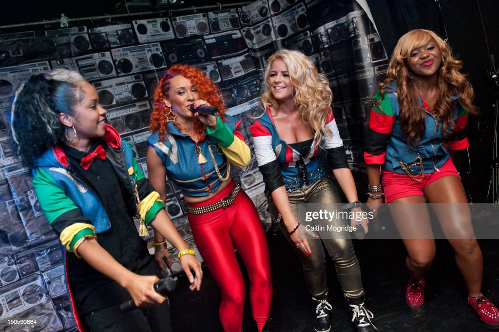 Cheekz, AJ, Jade and V.Vee of Vida perform on stage at Queen Of Hoxton on August 22, 2012 in London, United Kingdom.