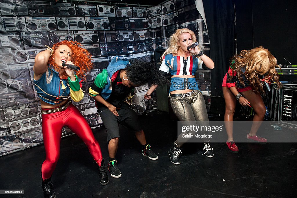 AJ, Cheekz, Jade and V.Vee of Vida perform on stage at Queen Of Hoxton on August 22, 2012 in London, United Kingdom.