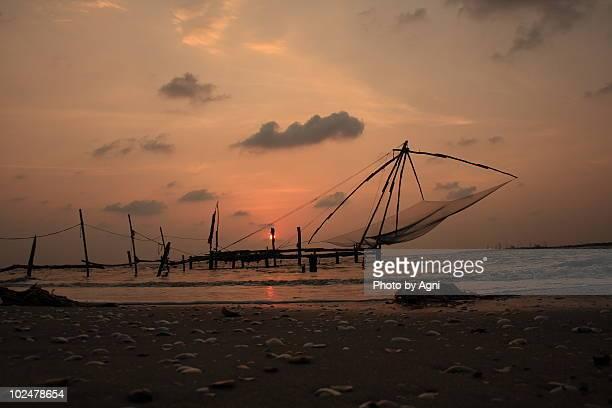 Cheena vala (Chinese fishing net) at Fortkochi