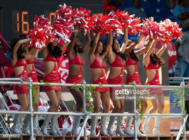 Cheer Leaders during the fifth test at Queen's Park Oval Port of Spain Trinidad