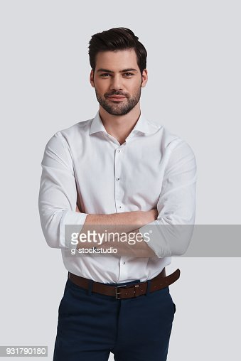Cheerful and handsome. : Stock Photo