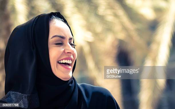 Cheerful Arab Woman