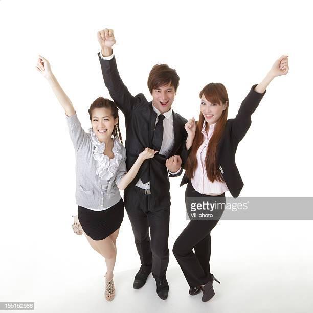 陽気なビジネスチーム