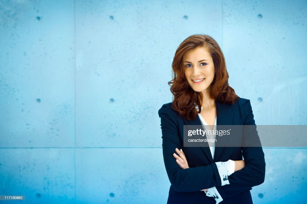 Cheerful businesswoman : Stock Photo