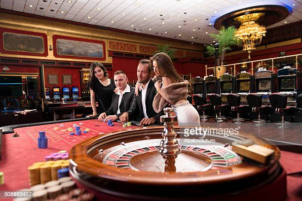 Enthousiaste Casino Players, de Roulette jeu, Europe