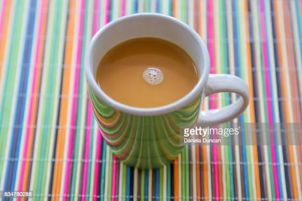 Cheerful coffee with creamer