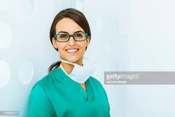 Cheerful doctor in a modern office