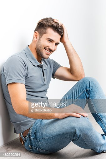 Cheerful handsome. : Stock Photo