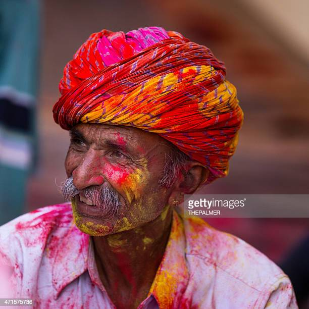 Freudig indische alter Mann