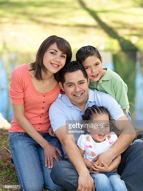 Cheerful latin family