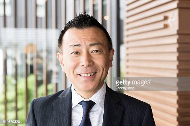 朗らかマチュア日本実業家、ポートレート