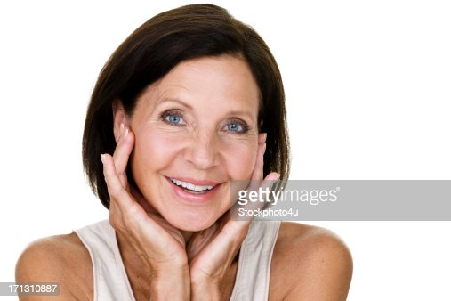 Cheerful mature woman
