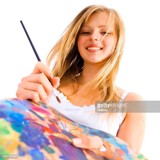 Cheerful painter