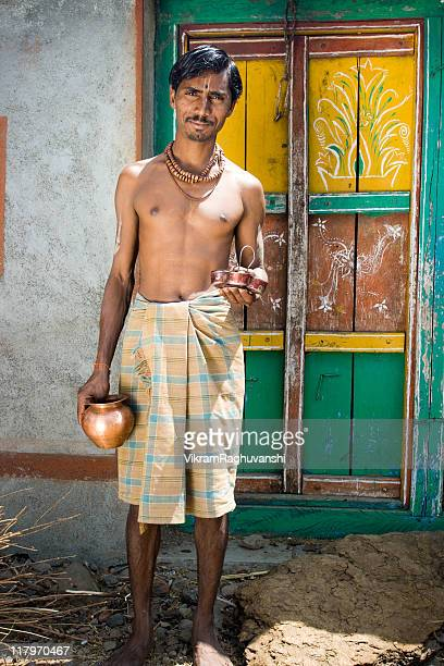 Cheerful Rural Indian Brahmin