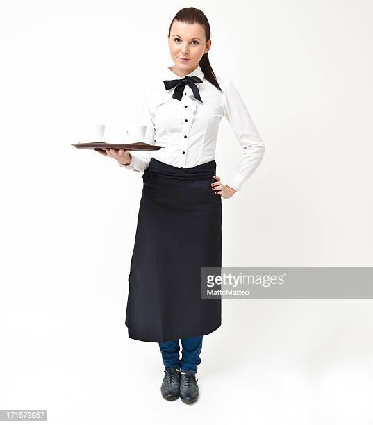 Cheerful waitress or bartender