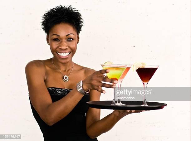 Cheerful waitress