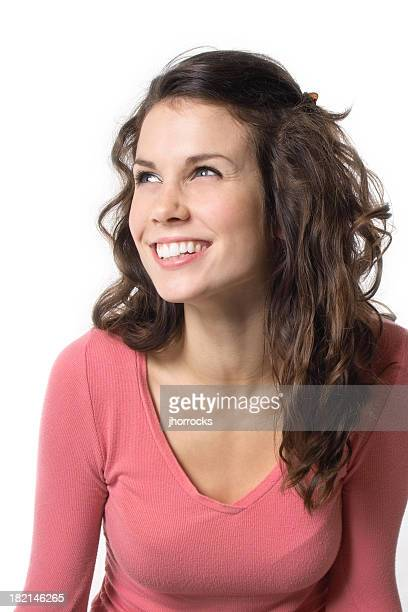 Cheerful Young Brunette Woman