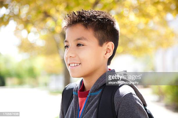 Cheerful young student